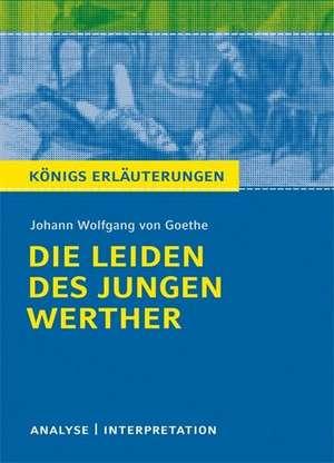 Die Leiden des jungen Werther. Textanalyse und Interpretation de Johann Wolfgang von Goethe