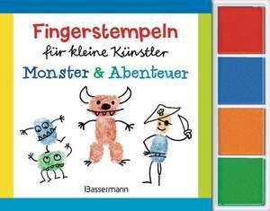 Fingerstempeln fuer kleine Kuenstler-Set - Monster und Abenteuer
