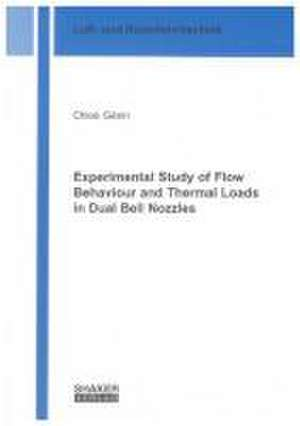 Experimental Study of Flow Behaviour and Thermal Loads in Dual Bell Nozzles de Chloé Génin