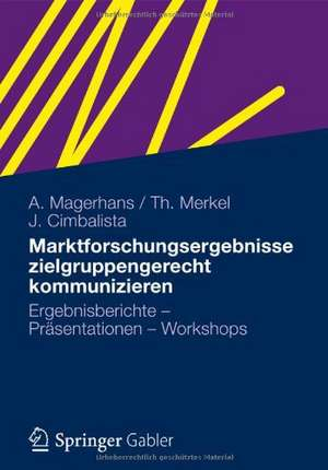 Marktforschungsergebnisse zielgruppengerecht kommunizieren: Ergebnisberichte - Präsentationen - Workshops de Alexander Magerhans