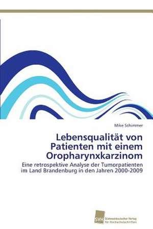Lebensqualitaet von Patienten mit einem Oropharynxkarzinom