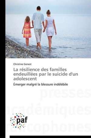 La resilience des familles endeuillees par le suicide d'un adolescent