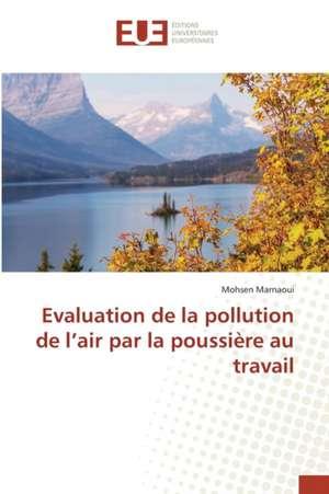 Evaluation de La Pollution de L'Air Par La Poussiere Au Travail