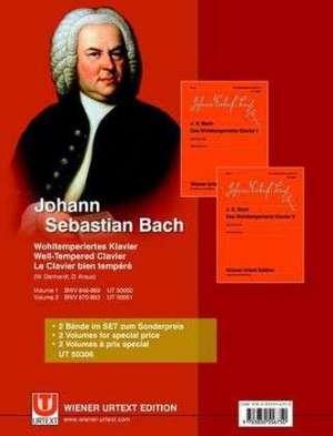 Das Wohltemperierte Klavier / 2Bde. de Johann Sebastian Bach