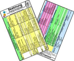 Beatmung - Respirator-Einstellungen fuer Frueh- / Neugeborene, Saeuglinge & Kleinkinder - Medizinische Taschen-Karte