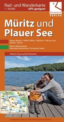 Rad- und Wanderkarte Müritz und Plauer See 1 : 50 000 de Klaus Klemmer