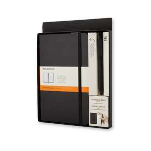 Moleskine Classic Notebook And Pen Pack (hard Cover  Large  Ruled Notebook And Fine 0.5 Mm Pen  Black) [with Pen]
