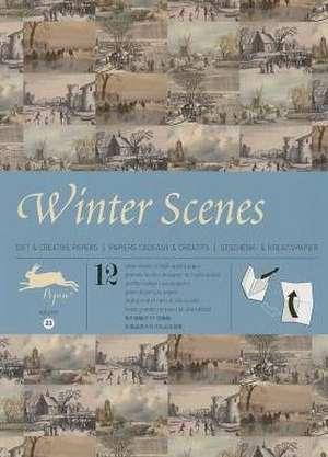 Winter Scenes, Volume 23:  Gift Wrapping Paper Book Vol.21 de Pepin van Roojen