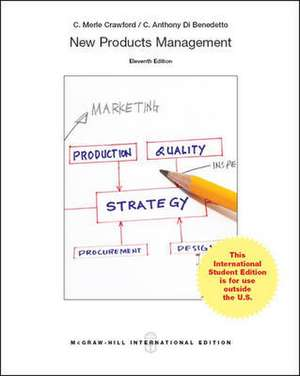 New Products Management (Int'l Ed) de C. Merle Crawford