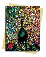 Louis Comfort Tiffany: Displaying Peacock Greeting Card: 1000 piece jigsaw