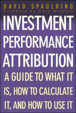 Investment Performance Attribution