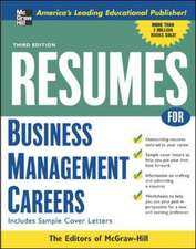Resumes for Business Management Careers
