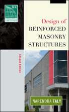 Design of Reinforced Masonry Structures