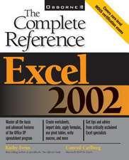 Excel 2002:  Programmer's Reference