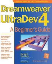 Dreamweaver UltraDev 4:  A Beginner's Guide