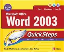 Matthews, M: Microsoft Office Word 2003 QuickSteps