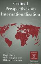 Critical Perspectives on Internationalisation:  Theoretical and Methodological Implications