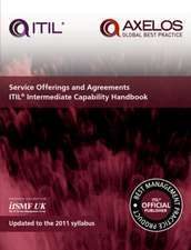 Service offerings and agreements: ITIL 2011 intermediate capability handbook (pack of 10)