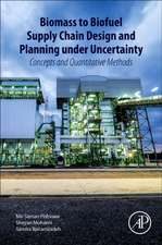 Biomass to Biofuel Supply Chain Design and Planning under Uncertainty