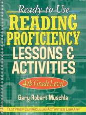 Ready–to–Use Reading Proficiency Lessons & Activities: 4th Grade Level