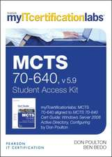 McTs 70-640 Cert Guide V5.9 Myitcertificationlab -- Access Card