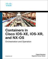 Containers in Cisco IOS-XE, IOS-XR, and NX-OS