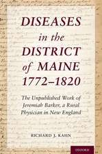 Diseases in the District of Maine 1772 - 1820
