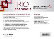Trio Reading: Level 1: Online Practice Teacher Access Card