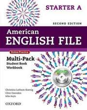 American English File: Starter: Multipack A with Online Practice and iChecker