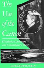 The Uses of the Canon: Elizabethan Literature and Contemporary Theory