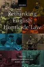 Rethinking English Homicide Law
