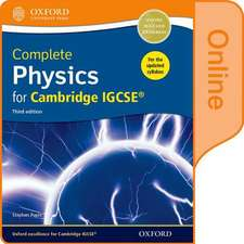 Complete Physics for Cambridge IGCSE® Online Student Book