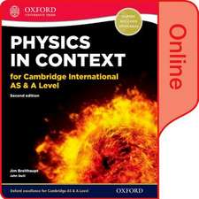 Physics in Context for Cambridge International AS & A Level: Online Student Book