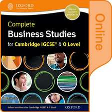 Complete Business Studies for Cambridge IGCSE and O Level, Second edition
