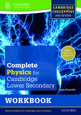 Complete Physics for Cambridge Lower Secondary Workbook: For Cambridge Checkpoint and beyond