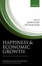 Happiness and Economic Growth: Lessons from Developing Countries