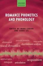 Romance Phonetics and Phonology