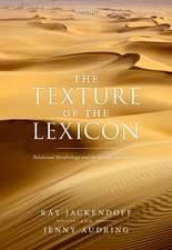 The Texture of the Lexicon