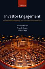Investor Engagement: Investors and Management Practice under Shareholder Value