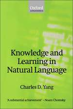 Knowledge and Learning in Natural Language