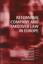 Reforming Company and Takeover Law in Europe
