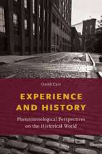 Experience and History: Phenomenological Perspectives on the Historical World