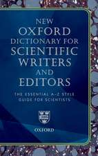 New Oxford Dictionary for Scientific Writers and Editors:  Organizing for Innovation and Growth