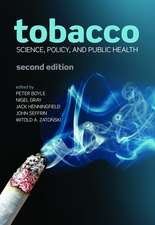 Tobacco: Science, policy and public health