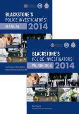 Blackstone's Police Investigators' Manual and Workbook 2014