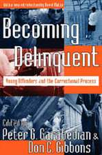 Becoming Delinquent:  Young Offenders and the Correctional Process