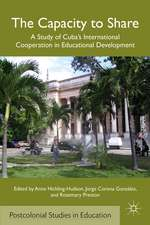 The Capacity to Share: A Study of Cuba's International Cooperation in Educational Development