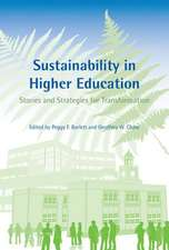 Sustainability in Higher Education – Stories and Strategies for Transformation