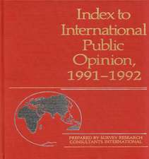 Index to International Public Opinion, 1991-1992