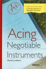 Acing Negotiable Instruments